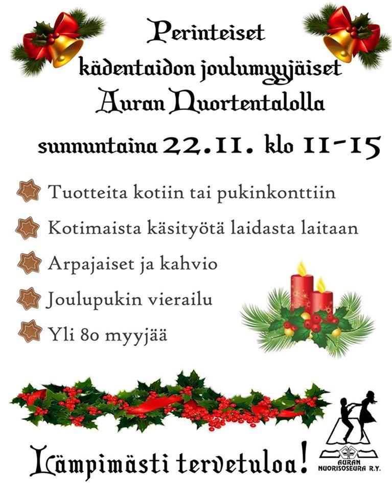 Auran nuortentalo joulumyyjäiset